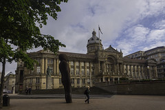 20160627_Standing Tall (Damien Walmsley) Tags: morning sky clouds early birmingham ironman worker victoriasquare lean councilhouse
