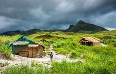 The Aeta village (pietkagab) Tags: trip travel mountains green rain clouds landscape photography asia village pentax philippines adventure pinatubo luzon pampanga aeta pentaxk5ii pietkagab piotrgaborek