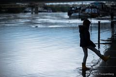 Reflets bleuts du soir - Conflans-Sainte-Honorine (inondations) (Pierre Fauquemberg) Tags: france water seine eau bleu reflet iledefrance quai naturelle catastrophe crue yvelines inondations conflanssaintehonorine bordsdeseine inond cruedelaseine pierrefauquemberg