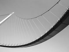 Suspension Bridge (unukorno) Tags: bw monochrome sw monochrom minimalism hngebrcke sassnitz minimalismus
