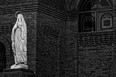icon (apg_lucky13) Tags: plaza bw newmexico brick church statue canon religious blackwhite san catholic basilica prayer pray icon holy negativespace albino mesilla jdc 40d mesillaplaza basilicaofsanalbino jasdaco