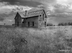 Out Back - BW (Pat Kavanagh) Tags: canada abandoned farmhouse landscapes farm leader homestead saskatchewan vetorama