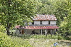 If Walls Could Talk (Kenneth Keifer) Tags: county old trees white house abandoned home farmhouse rural vintage countryside farm rustic westvirginia vacant worn weathered decrepit tinroof rundown yesteryear prch