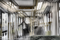 Ghost tram (Peter_Mackey) Tags: d610 melbourne multipleexposure tram abstract ghostly