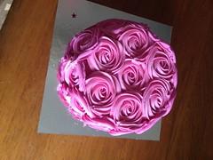 Birthday cake from Sainsburys (PinkPeonyPetal) Tags: birthday pink rose jam sponge frosting