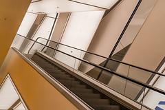 Vertigo (dlorenz69) Tags: abstract holland netherlands lines amsterdam architecture modern library escalator structures vertigo treppe staircase bibliotheek rolltreppe openbare