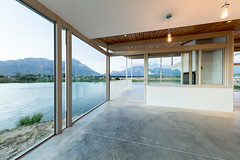 707 (Joe de Villiers Architect) Tags: water concrete dam verandah beton stoep westerncape tulbagh oregonpine joedevilliersarchitect housebongideane obiekwamountains obiekwaberge
