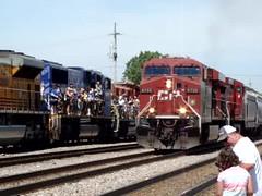 CP. rail in Franklin Park IL. (Chicago Rail Head) Tags: steamlocomotive diesels railroadday june112016 trains ondisplay franklinpark movies runbys