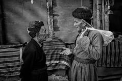 Friendly talks (Saman A. Ali) Tags: street friends portrait blackandwhite men monochrome blackwhite streetphotography double stphotografia