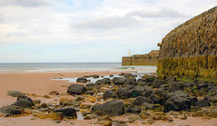 Cullen Beach And Harbour Wall (williamrandle) Tags: sea seascape beach stone landscape sand nikon rocks waves harbour outdoor walls moray banffshire northeastscotland d7100 cullenbeach tamron2470f28vc