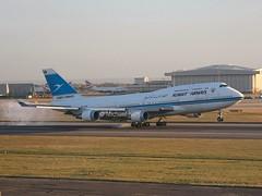 Kuwait Airways                                       Boeing 747                             9K-ADE (Flame1958) Tags: kuwait boeing boeing747 747 jumbojet heathrowairport b747 2311 2015 londonheathrow egll kuwaitairways lhe 0215 080215 9kade kuwaitairwaysb747