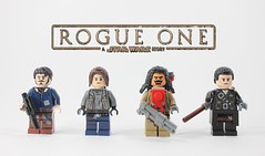 Rogue One: Purist Figbarf (Jamesbrick) Tags: one star lego story wars rogue anthology baze 2016 jyn cassian erso jamesbrick chirrut