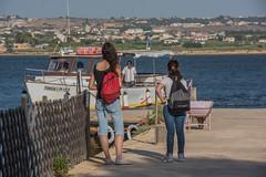 DSC_5873 (Pasquesius) Tags: sea island boat barca mare lagoon tourists sicily laguna saline sicilia saltponds isola marsala mozia mothia stagnone turiste motya riservanaturaledellostagnone