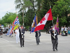 Bearing the Colours (jamica1) Tags: canada bc okanagan may columbia flags days parade british kelowna rutland veterans