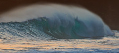aquamarine waters (bluewavechris) Tags: ocean light sea summer color water hawaii surf tube barrel wave maui spray swell makena southswell oneloa