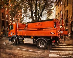 Rounding a corner in the city of Cologne, Germany (PhotosToArtByMike) Tags: colognegermany truck truckthursday cologne germany dom koln klnerdom oldtown rhineriver oldquarterofcologne europe