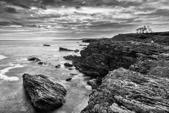 Sea View (InShot Images) Tags: uk sea seascape wales landscape coast blackwhite rocks hiking cliffs coastal anglesey landscapephotography rhoscolyn stephenennisphotography inshotimages