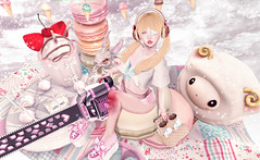 A Day to Play (Gaby Marshdevil ~ BUSY IRL) Tags: food cute doll chainsaw sl secondlife kawaii blonde offbeat crystalheart tsg vco astralia halfdeer pinkhustler sanarae
