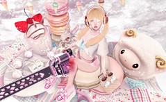 A Day to Play (Gabriella Marshdevil ~ BUSY IRL) Tags: food cute doll chainsaw sl secondlife kawaii blonde offbeat crystalheart tsg vco astralia halfdeer pinkhustler sanarae