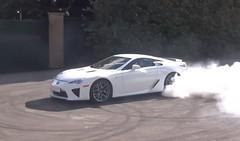 Lexus LFA Destroys Rear Tires At Goodwood (wupplescars) Tags: rear tires goodwood lexus destroys