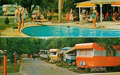 Valley Rancho Trailer Park, LaVerne, CA (1950sUnlimited) Tags: advertising pools postcards hotels trailer advertisements motels midcentury lodges