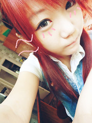 SKYLER'S (37) (LEECHINHWA l skyler) Tags: red cute girl beautiful hair doll pretty mask sweet russia gray korea korean lee kawaii spike uzbekistan chin skyler hwa pika lenses taki takumi bestface chinhwa ulzzang uljjang ohljjang leechinhwa