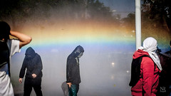 (Nicols Robles Fritz) Tags: chile santiago students rainbow protest riots