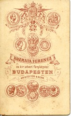Kozmata reverse (elinor04 thanks for 24,000,000+ views!) Tags: old vintage typography photo graphics hungary photographer antique label budapest victorian photograph font cdv backside reverse verso foundphotograph 1875 vintagephoto backmark kozmata verz kzmata kozmataferenc hungarianvintagephotocollection elinorsvintagephotocollection versob