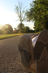 Nap Time (ashley.l.sammet) Tags: trees summer sun shoes walk trails jordans