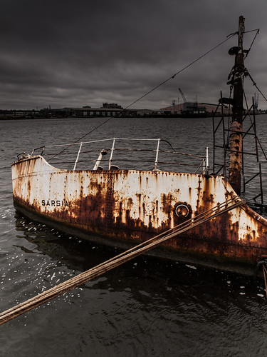 Sunken Ship, Great Float, Wallasey