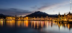 Lucerne (jjeffreyliu) Tags: city longexposure water night switzerland nikon long exposure lighttrails nightlife lucerne slowshutterspeed d7000