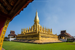 Wat Thatluang 2 (Santi Sukarnjanaprai) Tags: travel art architecture temple asia place buddhist sight laos wat vientiane thatluang