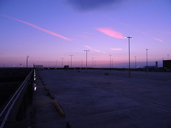 Manchester Airport at Dusk - May 2013 (Ross Kennedy) Tags: new uk travel pink blue sunset red summer two england sky sun man building public modern plane buildings manchester fly high airport europe european view place purple good euro aviation air jets transport jet sunny terminal international planes excellent british airways popular terminals intl avion t1 stylish airfield t2 ringway egcc landside iata airside 2013 icao