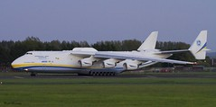 Antonov Airlines An-225 taxi to Runway (birrlad) Tags: sunset up airplane evening airport taxi aircraft aviation airplanes cargo line shannon takeoff runway airliner freighter antonov an225