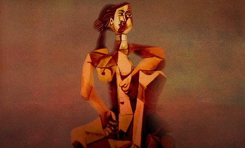 "Mujer Sentada, geometrización de Pablo Picasso (1953), abstracción de Roberto Real de León (2013). • <a style=""font-size:0.8em;"" href=""http://www.flickr.com/photos/30735181@N00/8805312269/"" target=""_blank"">View on Flickr</a>"