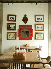 P5250506-1r (chai_shun_lai) Tags: food brick modern indonesia table concrete restaurant mirror java photo cozy cool chair natural unique interior traditional 14 rustic olympus bamboo frame vernacular lamps bsd ethnic chill exposed serpong omd javanese sektor em5 dapoer nusaloka ngeboel
