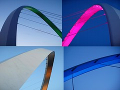 Millennium Bridge Illuminated Arch - Newcastle (Gilli8888) Tags: light abstract colour river newcastle arch tyne millenniumbridge gateshead rivertyne