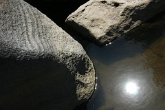 FRS100465 (Chance Agrella) Tags: california sun reflection water pool river puddle rocks stream glare mud feather dry riverbed strata gorge dried streambed