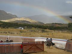 Rodeo (Sandro 11) Tags: chile horses patagonia southamerica rain arcoiris america caballos lluvia rainbow south rodeo aysen