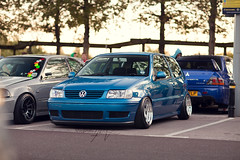 Lukes 6N2 VW Polo on Rotas (Cook24v) Tags: blue vw canon low smooth 85mm plate scene modified polo vag stance rota 6n2 polow f12l 5dmk2 aatomotion