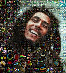 Bob Marley (Simone Genghini) Tags: portrait italy art portraits painting tile design graphicdesign photo italia foto arte faces moda arts mosaics mosaico icon rimini socialnetwork popart collections thumb bobmarley reggaestyle simonegenghini
