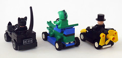 Animal Racers back (Oky - Space Ranger) Tags: animal cat penguin dc lego amphibian super killer crocodile batman croc heroes racers universe creature catwoman