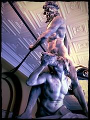 Godly nudity (roberteklund) Tags: unitedkingdom uk london indoor victoriaandalbertmuseumva peacockfilter greatbritain england statue greekgod 2013 spring vår