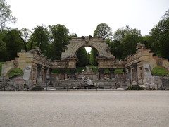 Artificial Roman Ruin in the Schonbrunn gardens