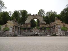 Artificial Roman Ruin in the Schonbrunn gardens