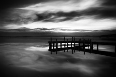Squid's Ink (Leighton Wallis) Tags: sunset lake reflection silhouette clouds pier dusk belmont jetty australia lee nsw newsouthwales lakemacquarie squidsink bigstopper twittertuesday