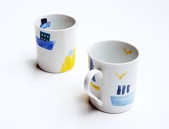Mug :: Tonarimachi no yu'ransen (2013) (mayakonakamura) Tags: summer tokyo nagoya mug nakamura tableware mayako semiabstract ceramicpainting galleryvaleur echoann