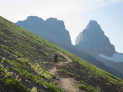 approaching the Grinnell Glacier overlook (jcoutside) Tags: montana backpacking glaciernationalpark
