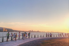 Sunset in Tamsui , Taipei , Taiwan - Most Famous sight in Taipei (Jo! is me.) Tags: sunset taiwan  taipei    tamsui