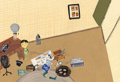 My Room Illustration (Children's Book) (jangyoung_) Tags: family boy baby house rabbit art monster kids illustration buildings painting children mom book education friend dad ibook friendship dino dinosaur classroom drawing space room daughter dream son pizza vehicle spaceship unicorn childrensbook imaginary illust picturebook illustrate kidsbook kindle